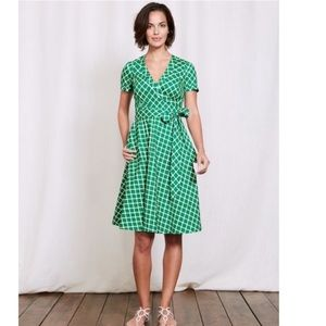 Boden faux wrap dress